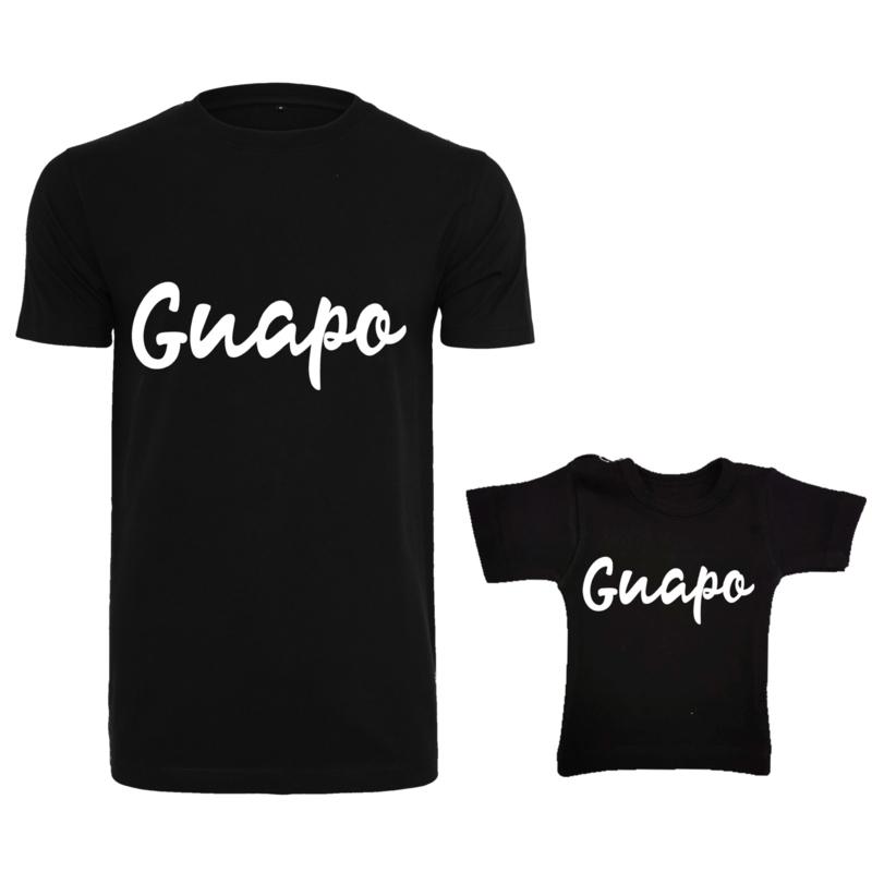 Twinning set - herenshirt & baby shirt - Guapo