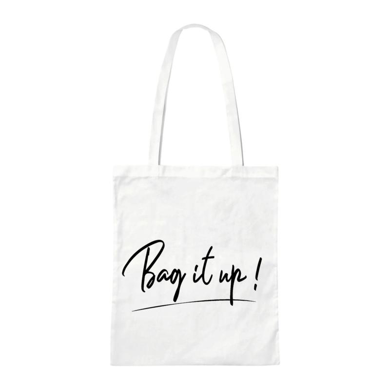 Canvas tas - Bag it up! - Wit