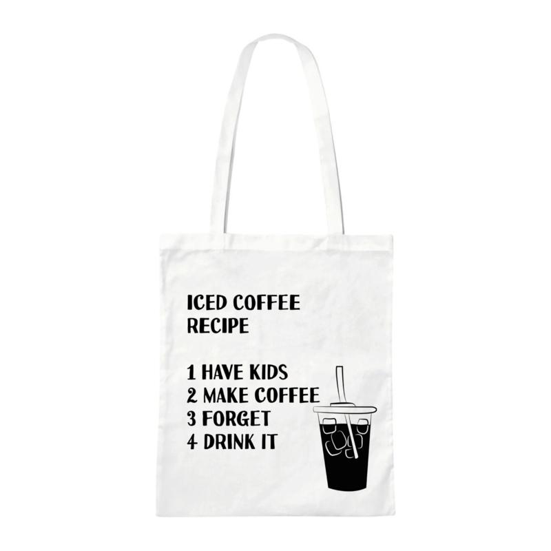 Canvas tas - Iced Coffee