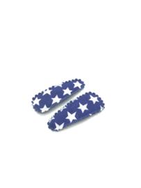 Baby/ peuter haarspeldjes  blauw ster