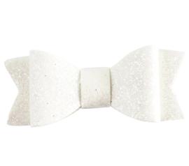 Glinster strikje wit