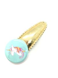 Haarspeldjes met button unicorn