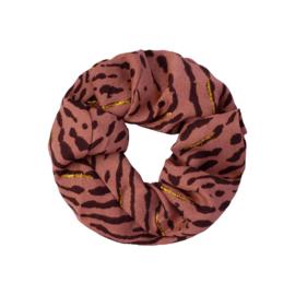 Scrunchies leopard roestbruin