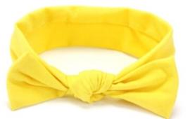 Haarband met strik geel