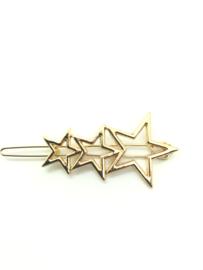 Haarspeldje sterren goud