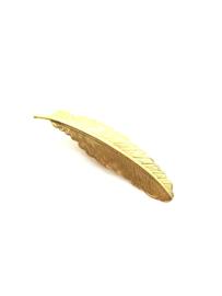 Haarclips veertje goud