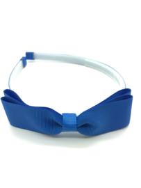 Diadeem met strikje kobaltblauw