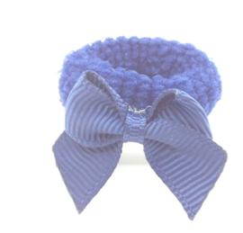 Baby elastiekje donkerblauw met strikje