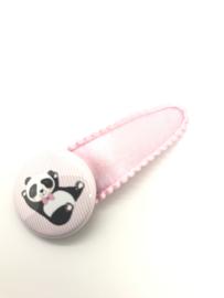 Haarspeldje met button panda