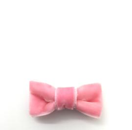 Strikje mini velour roze