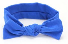 Haarbandje met  strik kobaltblauw