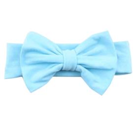 Haarbandje met strikje lichtblauw