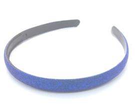 Diadeem met glinsters kobalt blauw
