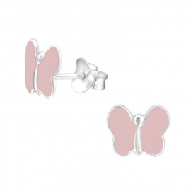 Oorstekertjes Vlindertjes roze