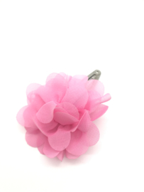 Haarspeldje met chiffon bloem roze