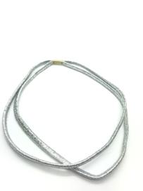 Haarbandje dubbel zilver