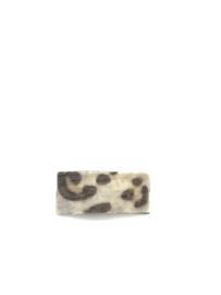 Haarspeld imitatie vilt met tijgerprint beige