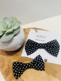 Doggy/cat bow tie zwart met stipjes