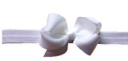 Babyhaarbandje met strikje wit