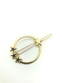 Haarspeldje cirkel ster goud