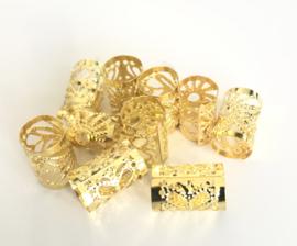 Bead cuff's goud