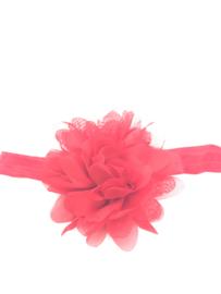 Babyhaarbandje rood met chiffon bloem