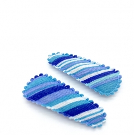 Baby/ peuter haarspeldjes blauw gestreept