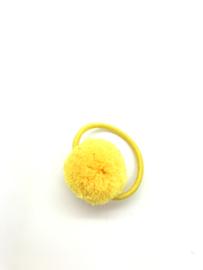 Elastiekje pompon geel