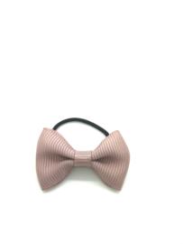 Elastiekje met mini strikje oud roze