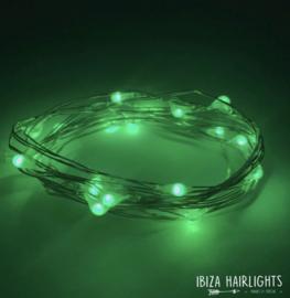 Ibiza hairlights groen