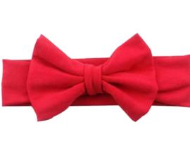 Haarbandje met  strik rood