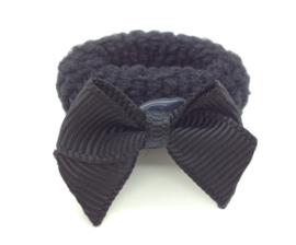 Baby elastiekje zwart met klein strikje