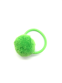 Elastiekje pompon groen