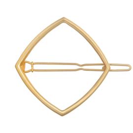 Haarspeld geometrisch ruit goud