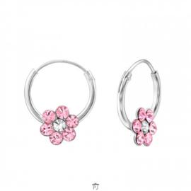 Oorhangertjes bloempje roze