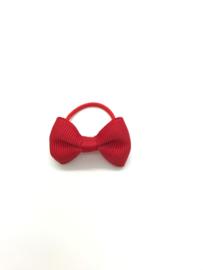 Elastiekje mini met strikje rood