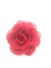 Haarspeldje met chiffon roosje rood