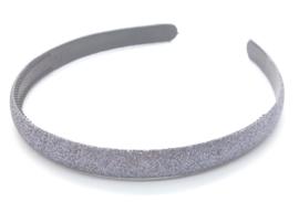 Diadeem met glitters antraciet grijs