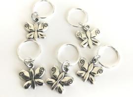 Rings hangertje vlinder