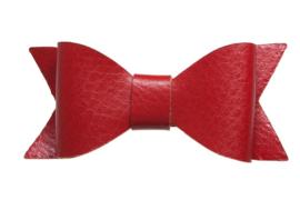 Lederen strikje rood