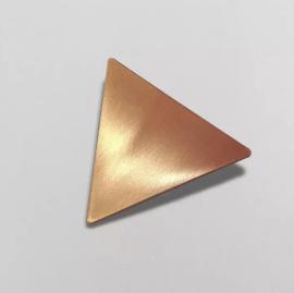 Haarclips driehoek rose goud