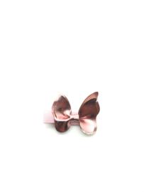 Haarspeldje met vlinder roze