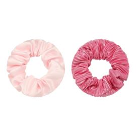 Scrunchies setje roze / streepjes