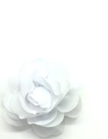 Haarspeldje met chiffon roos wit