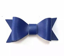 Lederen strikje Royal blauw