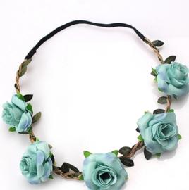 Zomerse bloemenbandje lichtblauw