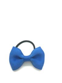 Elastiekje met mini strikje kobalt blauw