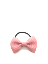 Elastiekje met mini strikje roze