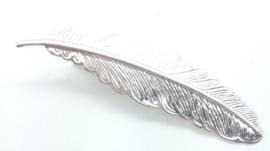 Haarclips veertje zilver