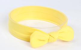 Bandana effen geel